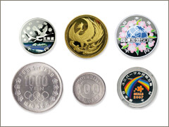 金貨や記念メダル売る